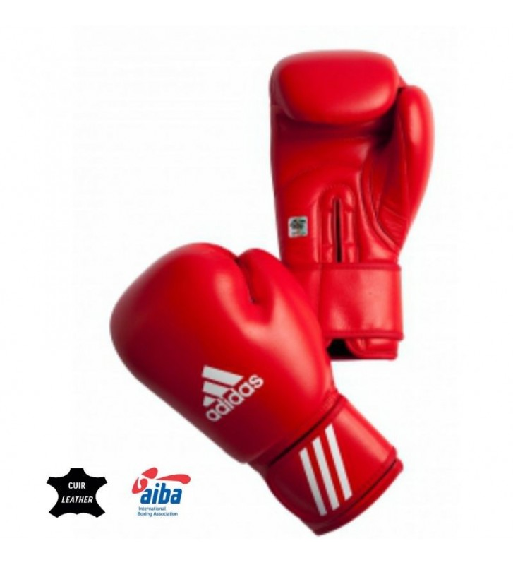 Rękawice bokserskie adidas z atestem AIBA czerwone