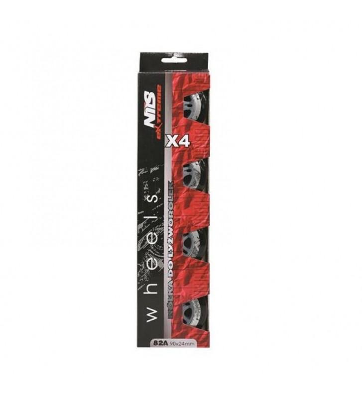 Czarne kółka NILS EXTREME PU 90x24 82A 16-30-006A