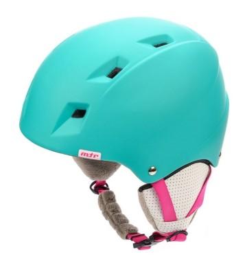 Kask narciarski Meteor Kiona miętowy/różowy 24856