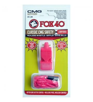 Gwizdek FOX CMG Classic Safety + sznurek 9603-0408 różowy