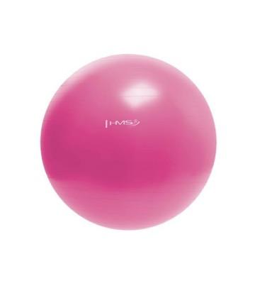 Piłka gimnastyczna YB01 55 cm różowa