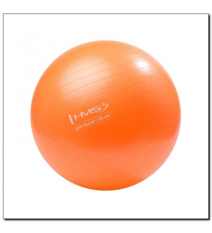 Piłka gimnastyczna Anti-Burst 55 cm pomarańczowa