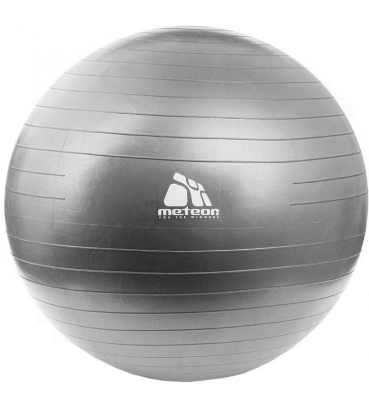Piłka gimnastyczna Meteor 85 cm srebrna 31182