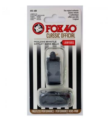 Gwizdek FOX Classic + sznurek 9901-0008 czarny