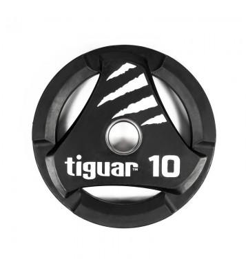 Talerz olimpijski tiguar PU 10 kg TI-WTPU01000