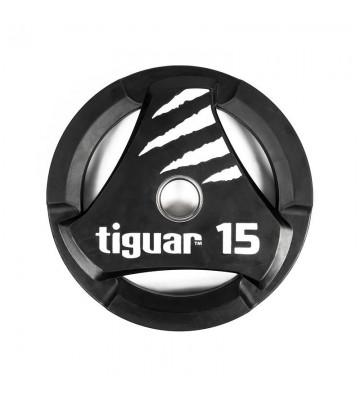 Talerz olimpijski tiguar PU 15 kg TI-WTPU01500