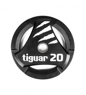 Talerz olimpijski tiguar PU 20 kg TI-WTPU02000