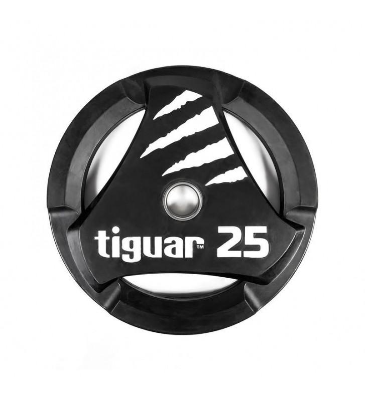 Talerz olimpijski tiguar PU 25 kg TI-WTPU02500