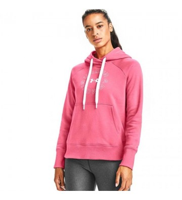 Bluza sportowa Under Armour Rival Fleece Metallic Hoodie W 1356323 668