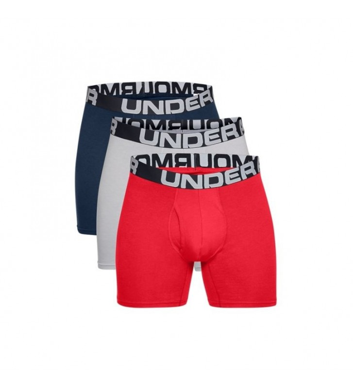Bielizna Under Armour Charged Cotton 6IN 3 Pack 1363617-600