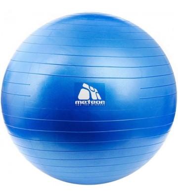 Piłka gimnastyczna Meteor 65 cm z pompką niebieska 31133