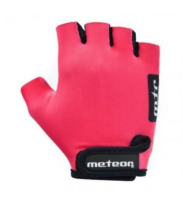 Rękawiczki rowerowe Meteor Pink Jr 26196-26197-26198