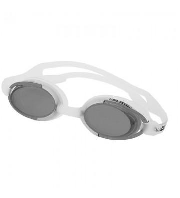 Okulary pływackie Aqua-Speed Malibu biało-czarne