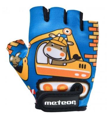 Rękawiczki rowerowe Meteor Teddy Builder Junior 26184-26185-26186