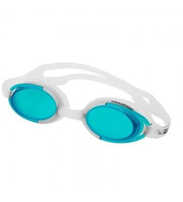 Okulary pływackie Aqua-Speed Malibu biało-zielone