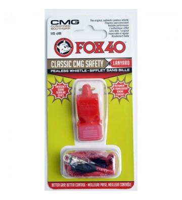 Gwizdek Fox 40 CMG Classic Safety + sznurek 9603-0108 czerwony